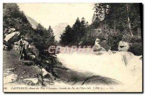 Old Postcard Cauterets Bridge Road D Spain Cascade No The Bear