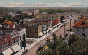 Minnesota St Cloud Trolley On St Germain Street 1912