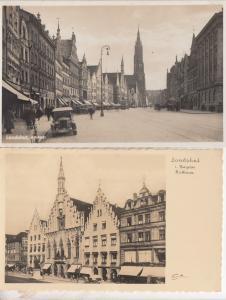 Landshut Alstadt Bayern Rathaus 2x Old German Postcard s
