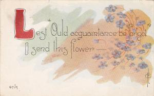 Fred Cavally Dainty Hint Series Lest Ould acquaintance be forgot 1912