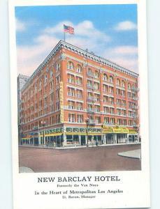 Unused Linen HOTEL SCENE Los Angeles California CA B1441