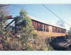 Unused Pre-1980 COVERED BRIDGE Plymouth New Hampshire NH t8313