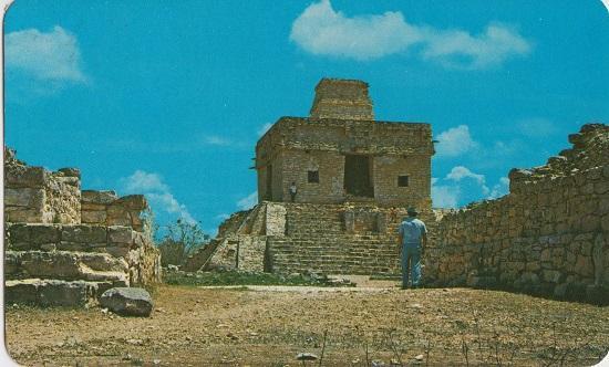 DZIBILCHALTUN Yucatan MEXICO - TEMPLE OF THE 7 DOLLS / Templo de 7 Munecas