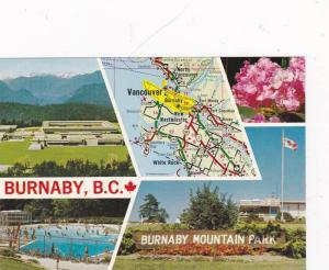 Map BURNABY , B.C. , Canada , 50-70s