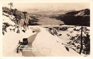 LP14 Donner Summit Bridge   California Postcard RPPC