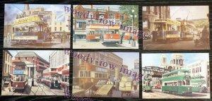Bu046 - 6 Artiste Postcards de Tramways par G S Cooper & R K Calvert - Parfait