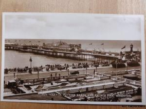 c1920's RPPC - Sun Terrace - Putting Green and Palace Lier - Brighton
