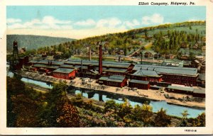 Pennsylvania Ridgway Aerial View Elliot Company 1948