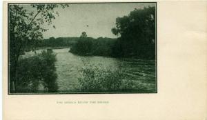 The Seneca River Below the Bridge - Central New York - UDB