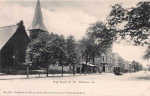High Street N.W., Pottstown, Pennsylvania, Early Postcard, Unused