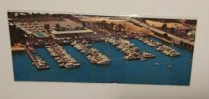 Postcard Kings Grant Inn Manasquan River Point Pleasant NJ Marina Boat Ships