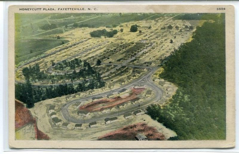 Honeycutt Plaza Fayetteville North Carolina 1942 postcard