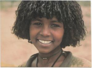 Ethiopia, Arsi Girl, unused Postcard