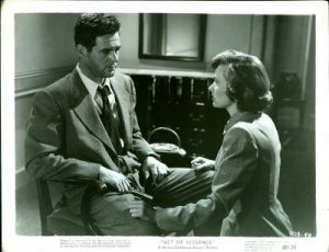 MOVIE STILL / ACT OF VIOLENCE - Robert RYAN & Janet LEIGH / 1948 - 8 x 10