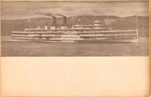 Hudson River Dayline New York Steam Ship Antique Postcard K40530