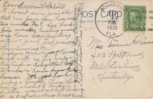 BOARDMAN FL - NICE 4 BAR CANCEL - 1939 / DPO 1947 on view of flowers