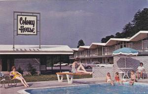 Swimming Pool, Diving Board, Exterior View of The Colony House Motor Lodge, R...
