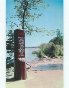 Pre-1980 VINTAGE SIGN MARKER Itasca State Park - Park Rapids Minnesota MN E6040