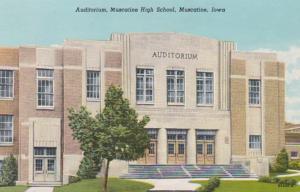 Iowa Muscatine High School Auditorium Curteich