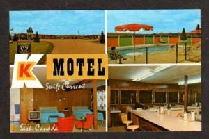 SWIFT CURRENT SASKATCHEWAN CANADA SK K Motel Postcard