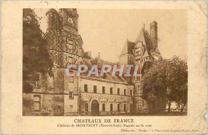 Postcard Old Castles Montigny France Eure et Loir Chateau Facade of the court...