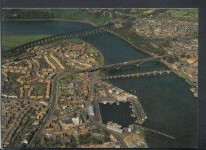 Northumberland Postcard - Aerial View of Berwick-Upon-Tweed   T8410