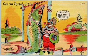 Vintage RAY WALTERS Postcard Get an Eyeful of This Curteich Fish Comics C-710