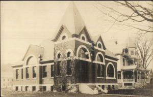 Chester VT Library c1910 Real Photo Postcard rpx