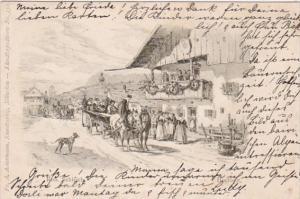 Germany Muenchen Kuenstlerpostkarte No 35 Hochzeit 1898