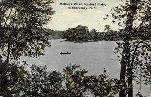 Schenectady New York~Mohawk River Rexford Flats~1912 Postcard