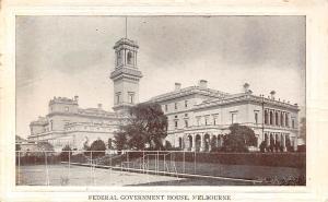 Australia Melbourne, Federal Government House