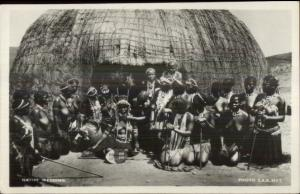 Africa Natives Ethnography Wedding - Zululand? Real Photo Postcard