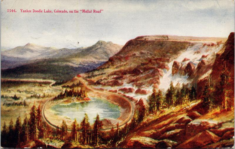 Yankee Doodle Lake CO Colorado Moffat Rd 1912 Steamboat Springs RPO Postcard E40