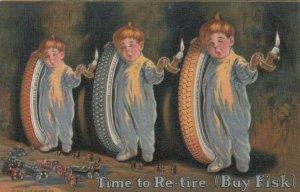 ADV; 1910 ; FISK Tires, 3 Sleepy Boys