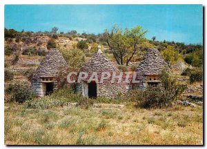 Modern Postcard Les Beaux Sites Provence Playhouses of dry stones called Bori...