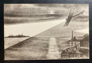 Mint France Picture Postcard WWI French Airplane On Recognition Flight Waldeck