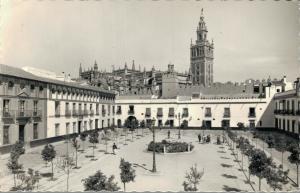 Spain Sevilla Reales Alcázares Patio de Banderas RPPC 01.78