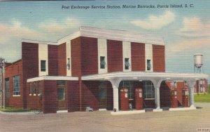 PARRIS ISLAND , South Carolina, 30-40s, Marine Barracks Gas Station