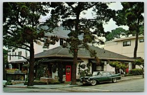 Carmel By The Sea California~Beaux Arts Sign~Pine Inn Block~1957 Cadillac w/Fins
