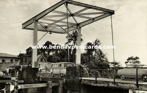 suriname, PARAMARIBO, Poelepantje Brug Bridge, V.W. VW Bus (1960s) RPPC