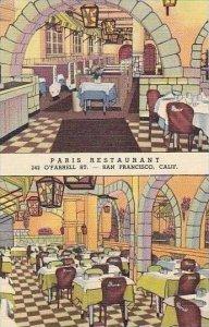 California San Francisco Paris Resturant Curteich