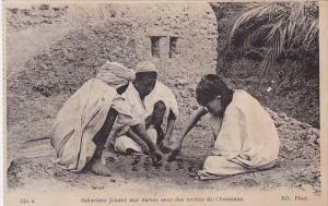 Africa Saharians Playing Checkers