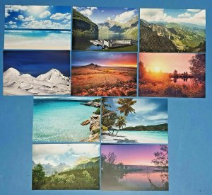 Set of 10 NEW Scenery Postcards great for Postcrossing & Postcardsofkindness