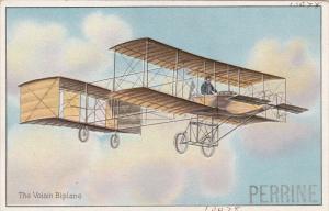 Pioneer aviation airplane , 00-10s ; The Voisin Biplane , TUCK #406 series