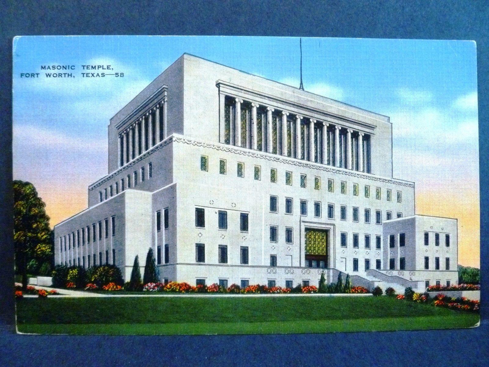 Postcard TX Fort Worth Masonic Temple / HipPostcard