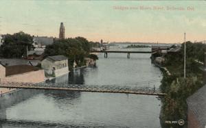 BELLEVILLE, Ontario , 1909 ; Bridges over River Moira