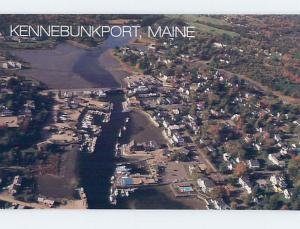 Unused 1987 AERIAL VIEW OF TOWN Kennebunkport Maine ME F8777