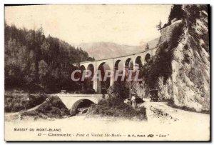 Old Postcard Chamonix Bridge and Viaduct Ste Marie