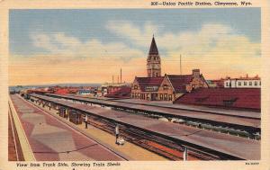 Cheyenne Wyoming~Union Pacific Station~1940 Postcard