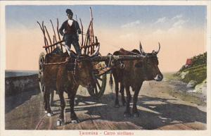 Ox Cart Taormina Carro Siciliano